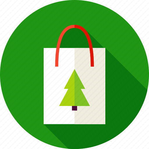 bag, christmas, gift, package, present, shopping, tree icon
