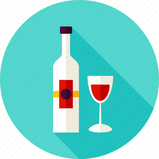 alcohol, beverage, bottle, drink, glass, glassful, wine icon