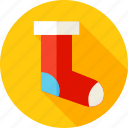 christmas, gift, gift sock, holiday, present, sock, xmas icon