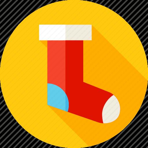 christmas, gift, gift sock, holiday, present, sock, xmas icon