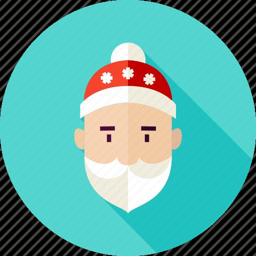 beard, christmas, claus, santa, santa claus, winter, xmas icon