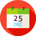 calendar, christmas, date, december, eve, holiday, winter icon