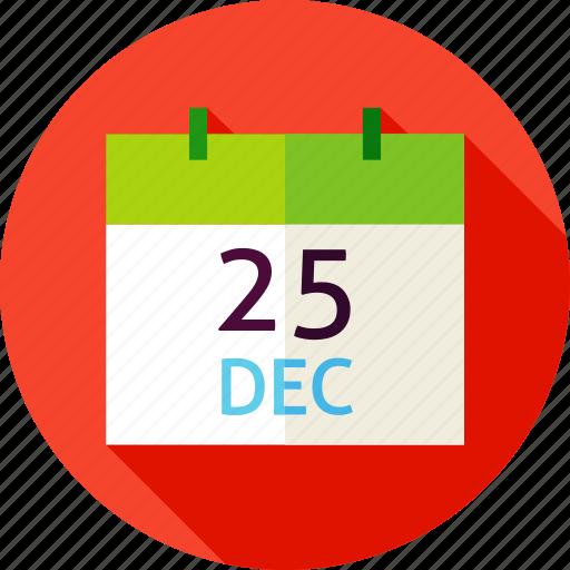 calendar, christmas, date, december, eve, holiday, winter icon