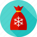 bag, celebration, gift, holiday, present, santa, winter icon