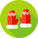 celebration, christmas, glove, gloves, holiday, seasonal, winter icon