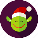 christmas, elf, fairy, holiday, leprechaun, pixy, santa icon