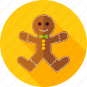 christmas, cookie, gingerbread, gingerbread man, man, merry christmas, xmas icon
