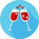 alcohol, beverage, cocktail, drink, glass, glassful, wine icon