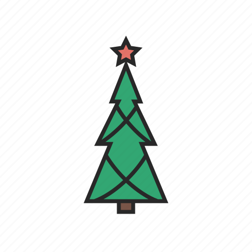 christmas, tree, winter icon
