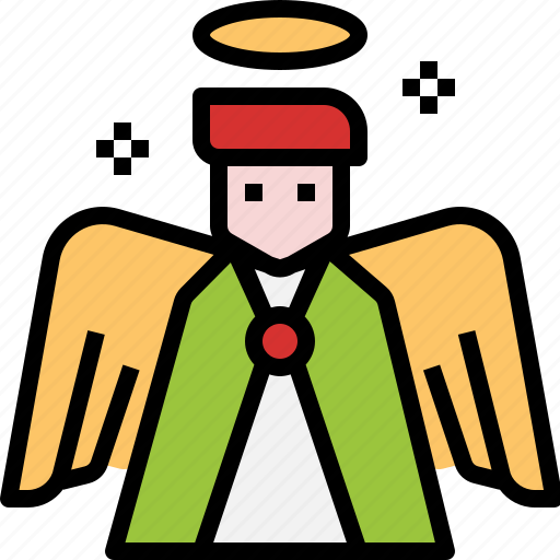 angel, christian, peace, religion, wings icon
