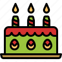 bakery, cake, candles, celebration, dessert icon