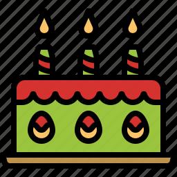 bakery, cake, candles, celebration, dessert icon