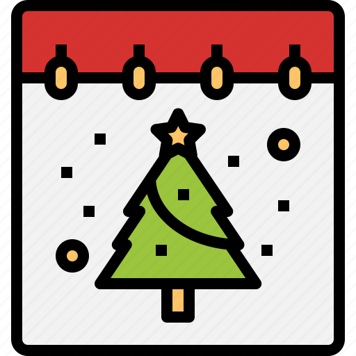 calendar, christmas, date, day, tree icon