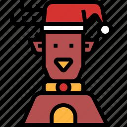 christmas, deer, ornaments, reindeer icon