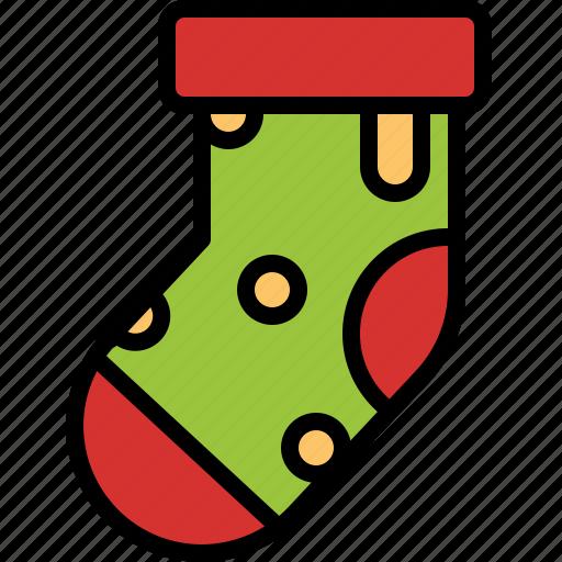 christmas, decoration, ornament, sock, stocking icon