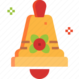 alarm, alert, bell, christmas, instrument, musical icon