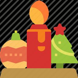 candle, christmas, decoration, light, ornamental icon