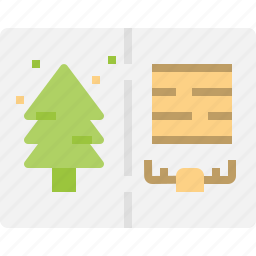 card, christmas, greetings, letter, message icon