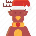 christmas, deer, ornaments, reindeer icon