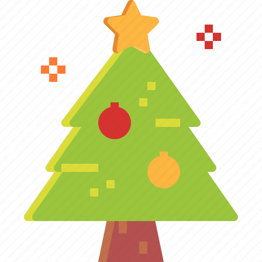 christmas, forest, nature, ornaments, tree icon