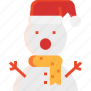 christmas, decoration, snowman, toy, winter icon