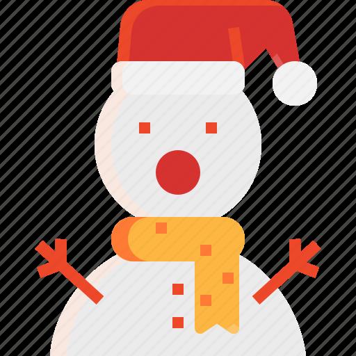 christmas, decoration, snowman, toy, winter icon