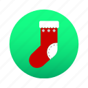 christmas, gift, santa, santa claus, sock, winter, xmas icon