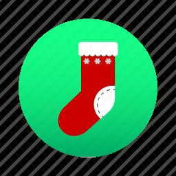 christmas, gift, santa, santa claus, sock, winter, xmas icon