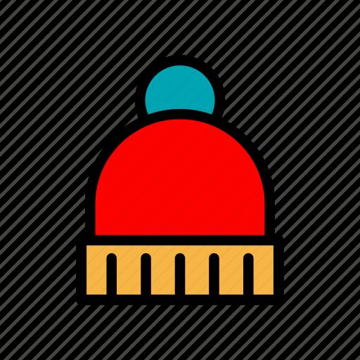 beanie, christmas, hat, winter icon