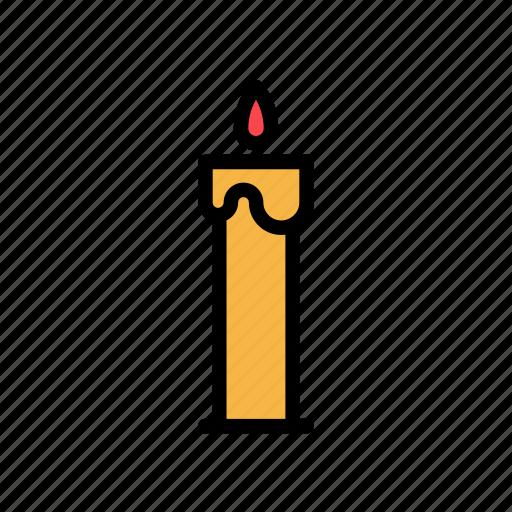 candle, celebration, christmas, decoration, winter, xmas icon