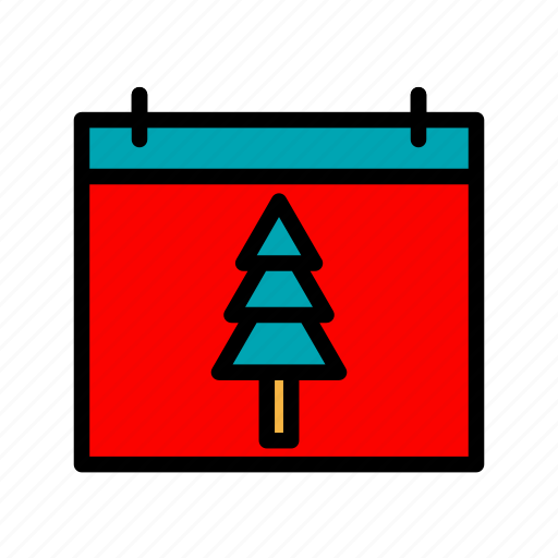 calendar, christmas, holiday, winter, xmas icon