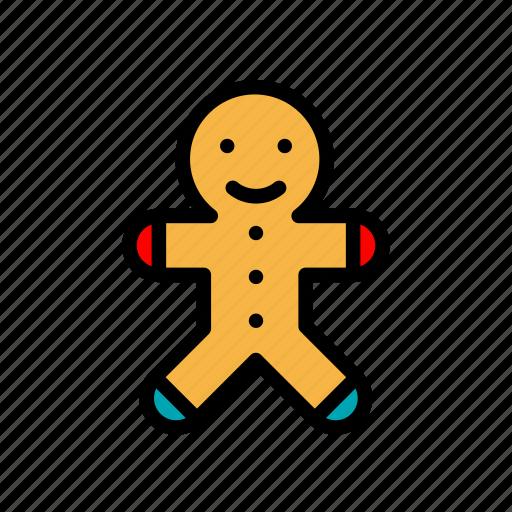 christmas, gingerbread, gingerbread man, man, santa icon