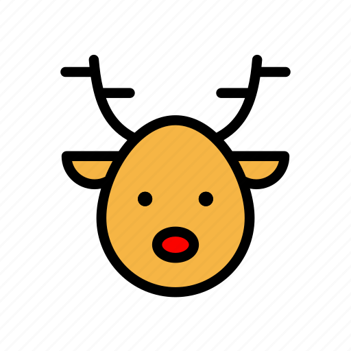 christmas, deer, rein, santa, winter, xmas icon