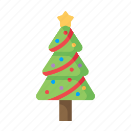 christmas, decoration, pine, pinetree, star, tree, xmas icon