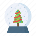 christmas, crystalball, gift, present, showpiece, snowfall, xmas icon