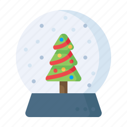 christmas, crystalball, gift, present, showpiece, snowfall, xmas icon