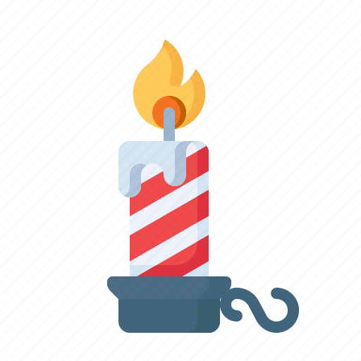 Candle, candlestand, christmas, decoration, flame, light, stand icon - Download on Iconfinder