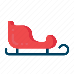 christmas, santacar, sledge, slide, transport, xmas icon