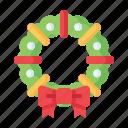 boutique, bow, bowknot, cherry, christmas, wreath, xmas icon