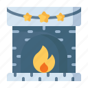 fire, wood, fireplace, winter, cabin