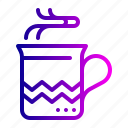 chocolate, christmas, coffee, cup, drink, hot, mug icon