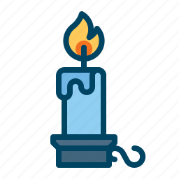 candle, candlestand, christmas, decoration, flame, light, stand icon