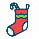 candy, christmas, gift, sock, socks, sweet, xmas icon