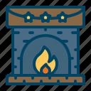 cabin, fire, fireplace, winter, wood