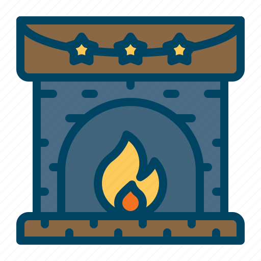 cabin, fire, fireplace, winter, wood icon