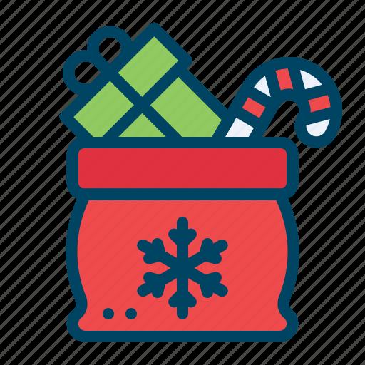 bag, box, candy, christmas, gift, present, santabag icon