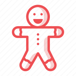 bake, christmas, cookie, gingerbread, man, pastry, xmas icon
