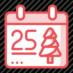 calendar, christmas, day, month, xmas icon