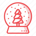 christmas, crystalball, gift, present, showpiece, tree, xmas icon
