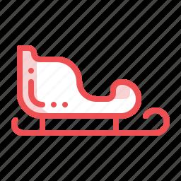christmas, santacar, sledge, slide, transport, xmas icon